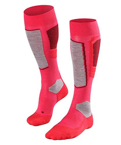 FALKE Damen Skisocken SK4, atmungsaktive Skistrümpfe mit Merinowolle, Kniestrümpfe zum Skifahren, gute Wärmeisolation, leichte Polsterung, 1er Pack, rosa (Rose 8680), 39-40