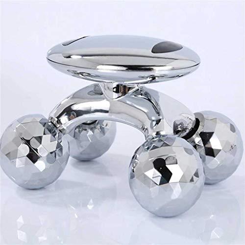 JJYPY 4D Roller Massager Solaire Micro Courant Massager Visage Face Serrer Corps de Serrage Minceur Forme Anti-Cellulite Roller Beauté Soins de beauté