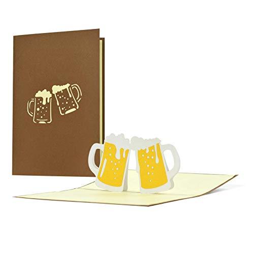 Glückwunschkarte zum Geburtstag Jahrestag Vatertag|Witzige 3D Pop-Up Geburtstagskarte|Gutschein Einladung Essensgutschein für Ehemann Papa Opa Sohn|G22