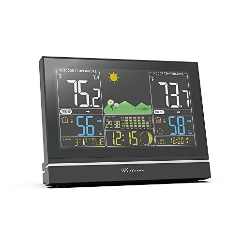 Wittime Latest 2076 Weather Station, Wireless Indoor Outdoor Thermometer, High...