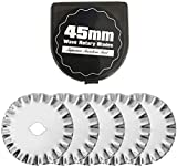 Headley Tools 45mm Small Wave Rotary Blade(Pack of 5) Pinking Blade for Quilting,Scrap Booking,Leather,Vinyl etc (Quantity 5pcs, 45mm Wave) W5 Small