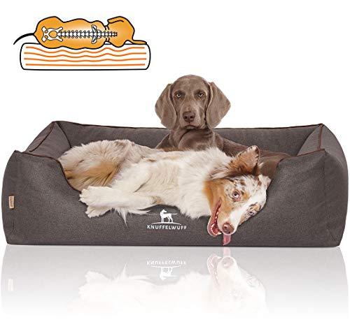 Knuffelwuff Orthopädisches Hundebett Wippo Hundekorb Hundesofa Hundekissen Hundekörbchen waschbar Schwarz XL 105 x 75cm