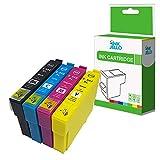 InkJello Compatibile Inchiostro Cartuccia Sostituzione per Epson XP-5100 XP-5100 Series XP-5105 XP-5115, WorkForce WF-2860 DWF WF-2865 DWF 502XL (Nero/Cyan/Magenta/Giallo, 4-Pack)