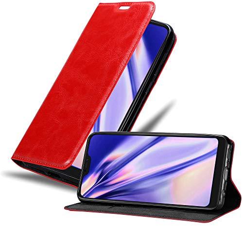 Cadorabo Hülle für Xiaomi Mi A2 LITE/RedMi 6 PRO in Apfel ROT - Handyhülle mit Magnetverschluss, Standfunktion & Kartenfach - Hülle Cover Schutzhülle Etui Tasche Book Klapp Style