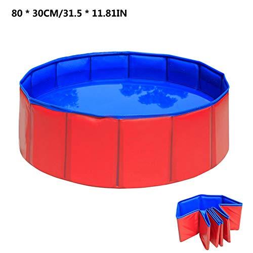 S-tubit Tragbarer PVC-Haustier-Swimmingpool, Faltbarer Pool Hunde Katzen Badewanne Badewanne Waschwanne Wasserteich Pool Haustier-Pool & Kinderbecken für Kinder im Garten