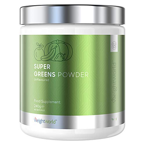 Super Greens Powder Food Supplement - Greens Superfood Detox Powder, Great for Smoothies, Juice & Drinks, Vitamin & Mineral Complex, Natural Energy Boost, Health Drink, Raw Unflavoured Vegan Smoothie