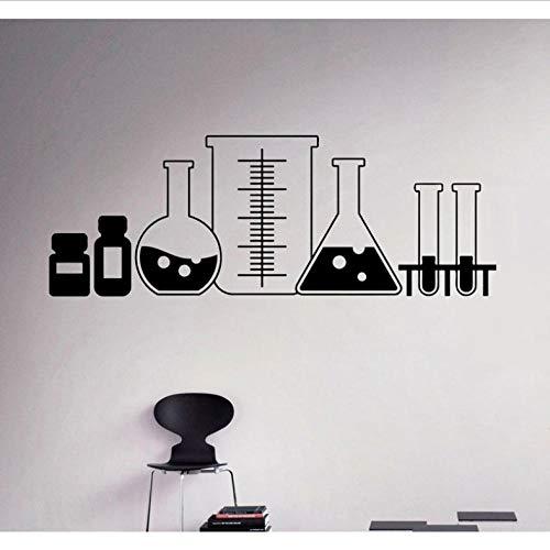 Laborglaswand Applique Vinyl Aufkleber Schule Chemie Klassenzimmer Art Deco Home Interior Schlafzimmer Dekor 116X42CM