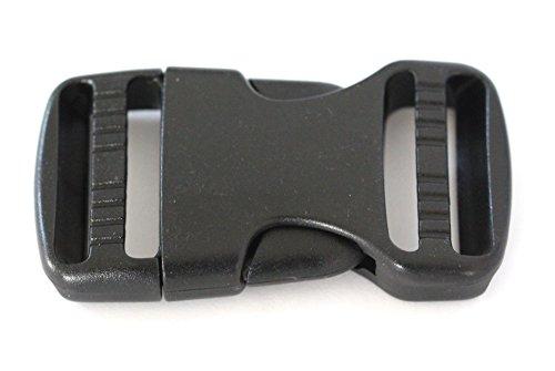 Farbenspiel Schmuckzubehör Steckverschluss Stück 70x38x30mm schwarz • Schnalle Klippverschluss V2 / B-Ware