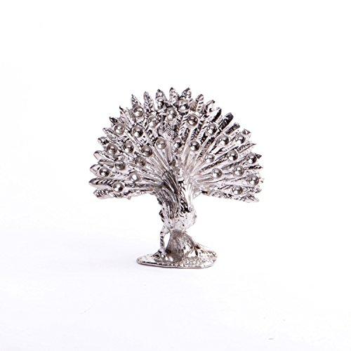 Rare colection Animaux : Paon Sculpture Miniature en métal Objet Insolite de décoration fabriqué en France.