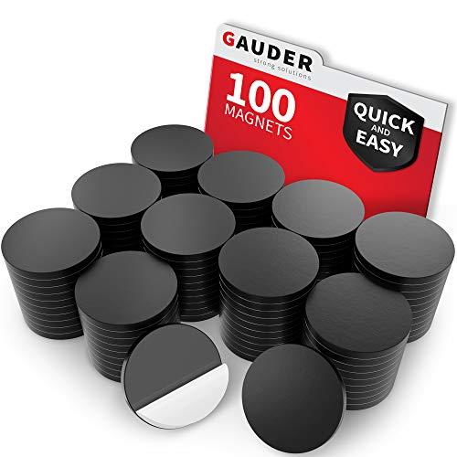 GAUDER Magnetische Plättchen selbstklebend   Magnetplättchen   Magnetstreifen für Fotos, Postkarten & Schilder
