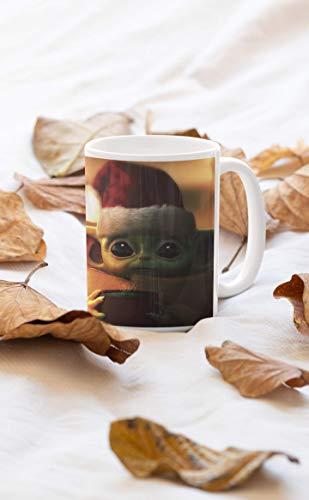 Desconocido Taza Baby Yoda Navidad. Adopta un Baby Jedi. Star Wars Navidad