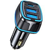 80W USB C Car Charger 4.5A Fast Charging 3-Ports USB Car Charger Adapter PD 3.0 PPS QC 3.0 Power Delivery for iPhone 12/12 Pro/Max/iPhone 11/Pro/Max/XR/XS/8P,Galaxy S20/S10/S9,Note 20/10 and More