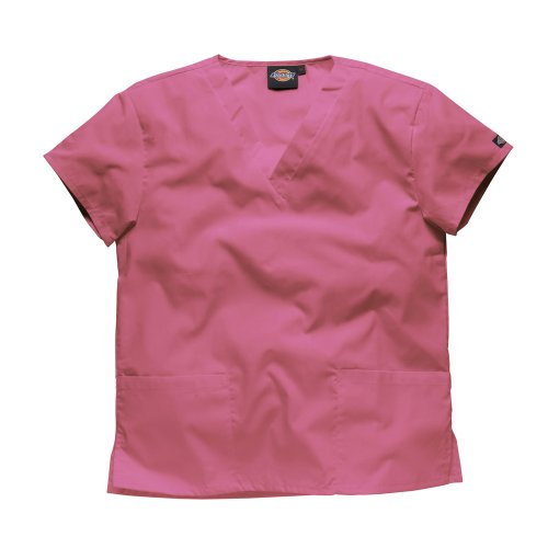 Dickies Workwear Schlupfhemd Medizin 2 Taschen mit V-Ausschnitt 2XL Pink