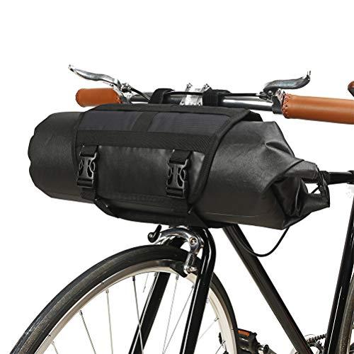Yissma waterdichte fietstas met reflecterend logo en accessoires voor fietsframe-zwart