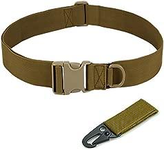 NALEDI Combat Gear Utility Belt with EDC Pouch Men's 1.5 Inch Tactical Heavy Duty Belt (Khaki)