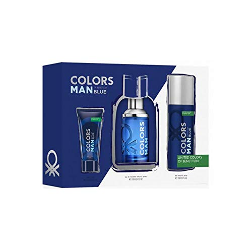 Benetton Col Benetton Colors Man Blue Est 3 Pza 300 g