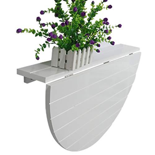 Wandtisch Halbrunder Wandtisch, Klapptisch aus Holz, stabile stabile Konstruktion, Klapptisch, Klapptische for kleine Räume (Farbe : Weiß)