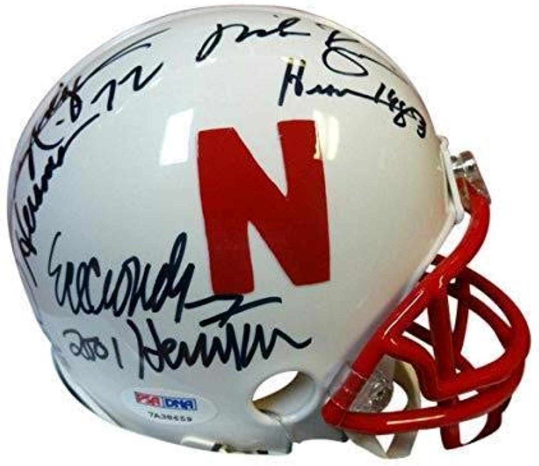 Nebraska Cornhuskers Heisman Trophy Winners Signed Mini Helmet  Autographed College Mini Helmets