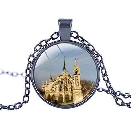 Xinmeitezhubao Halskette, Glasmalerei Anhänger, Glasmalerei Bild, Kathedrale Halskette, Gotik,...
