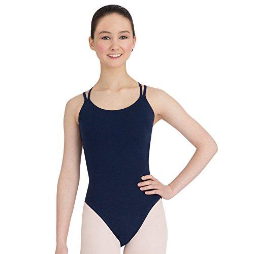 (CC123) Capezio Ballett Trikot mit Spaghettiträger Marine Blau Small Erwachsene Small Brustumfang 32-34, Taille 24-26