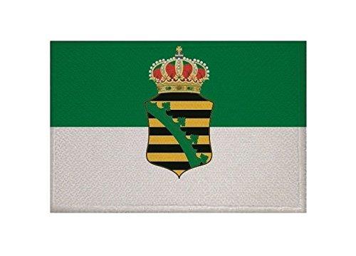 U24 Aufnäher Sachsen-Altenburg Fahne Flagge Aufbügler Patch 9 x 6 cm