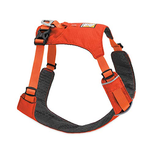 RUFFWEAR, Hi & Light, Everyday Lightweight Dog Harness, Trail Running, Walking, Hiking, All-Day Wear, Sockeye Red, Small
