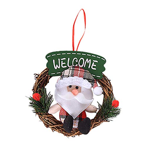 Panhui Christmas Wreath Fall Wreaths for Front Door Christmas Home Window Wall Farmhouse Indoor Outdoor Decorations