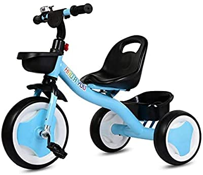 Kids Tricycles ,Kids Trikes with Front and Rear Basket, 3 Wheel Kids Trike, for Toddlers and Kids Over 18 Months-3 Years Old (Blue) by RUIVIVRE