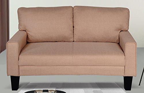 US Pride Furniture -L Fabric Loveseat, Brown