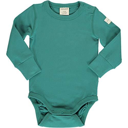 Maxomorra - Body de Manga Larga para bebé Verde petróleo 62 cm/68 cm