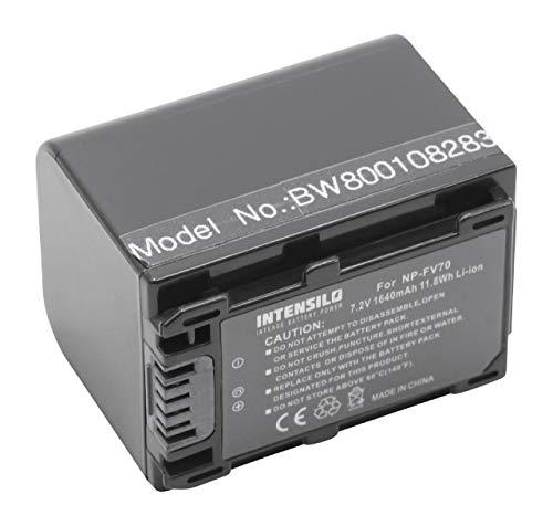 Batería Li-Ion 1640mAh (7.2V) Marca INTENSILO para Sony HDR-CX150E, HDR-CX155E, HDR-CX160 sustituye...