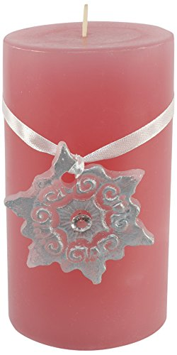 Magic Candle World Candles Lotus Candela con dipinto a mano, cristallo, Rosa, 7.5 x 7.5 x 16 cm