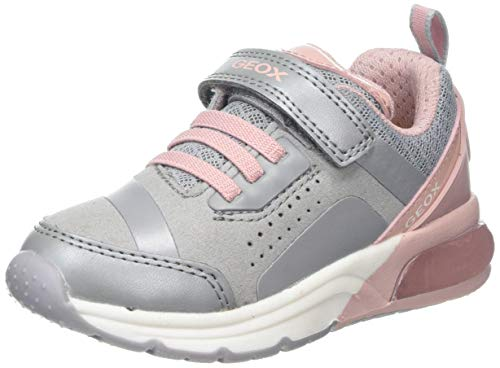Geox J SPACECLUB Girl C, Zapatillas Niñas, Grey (Grey/Pink C0502), 35 EU