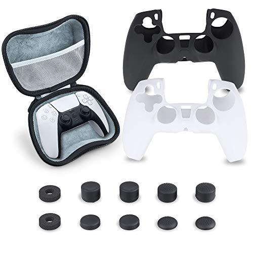 SUPERSUN Funda para Sony Playstation 5 PS5 Consola, 13 Piezas Accesorios con...