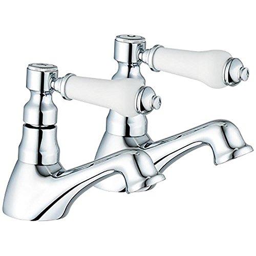 Globe Union Robinets de baignoire Chromé (cygne 3 Paire de robinets chaud/froid Par Grand Taps