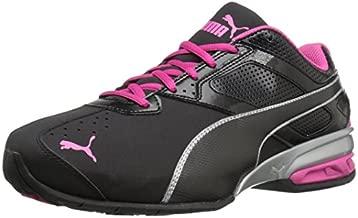 PUMA Women's Tazon 6 WN's fm Cross-Trainer Shoe Black Silver/Beetroot Purple, 10 M US