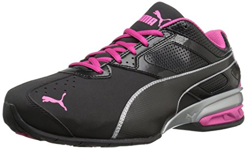 PUMA Women's Tazon 6 WN's fm Cross-Trainer Shoe Black Silver/Beetroot Purple, 10 M US