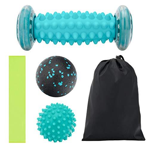 Massageball, SenPuSi Fußmassagegerät Fußmassage Roller Muskel Roller & Bälle Set für Plantarfasziitis Fansteck Igelball & Bälle Set Stressreduzierung und Entspannung