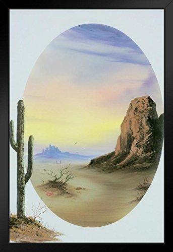 Poster Gießerei Bob Ross Desert Glow Kunstdruck Gemälde von proframes 14x20 inches Framed Poster