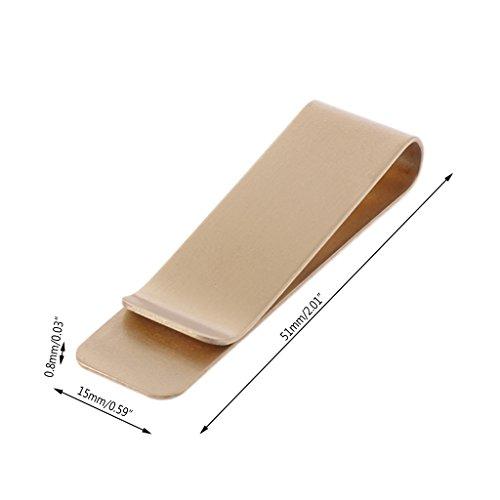 SimpleLife Slim Pocket Messing Metallclip Männer Geldbörse Kreditkarte Bargeld Clamp Geldscheinklammer Brieftasche