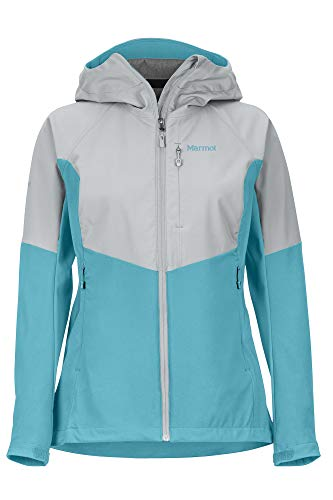 Marmot Damen Wm's ROM Jacket Softshelljacke, Funktions Outdoor Jacke, Wasserabweisend, Enamel Blue/Sleet, S