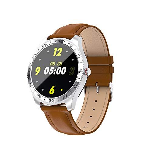 MMFFYZ Reloj Inteligente para Hombre, Monitor De Ritmo Cardíaco Y Presión Arterial, Rastreador De Ejercicios, Reloj Inteligente para Android iOS, Pulsera Inteligente Informal Impermeable(Color:C)