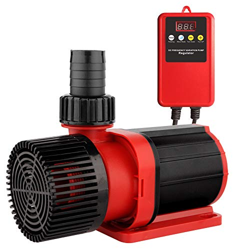 24V Aquarium DC Return Water Pump Flow Pump 3170 GPH with Controller Wave Function for Ponds Aquarium Statuary Hydroponics Aquaponics 12000L/H