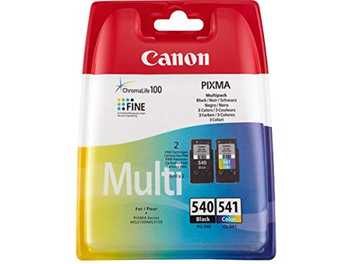Canon original - Canon Pixma MX 475 (PG-540 CL 541 / 5225 B 007) - 2 x Druckkopf Multipack (schwarz, cyan, magenta, gelb) - 180 Seiten