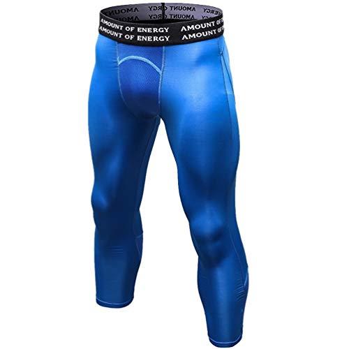 WanYangg Compression Leggings Hombre Deportiva Secado Rapido Pantalones Compresión Running Apretadas Tights Larga Base Mallas Compresivas Correr Fitness Ejercicio