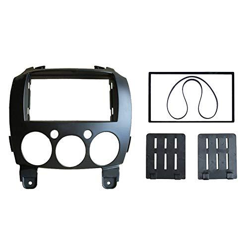 BEESCLOVER Kit de montage pour façade d'autoradio stéréo 2 DIN pour Mazda 2 2010 Demio 2007 + Noir