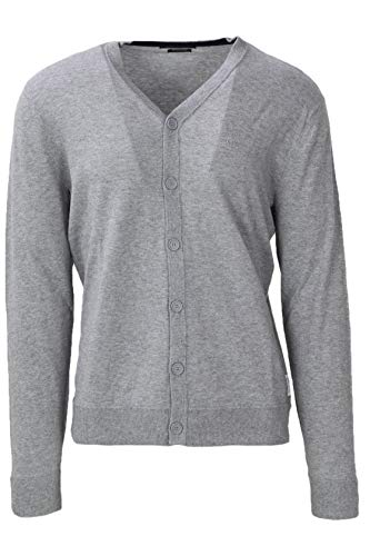 ARMANI EXCHANGE 8nze74 Cardigan, Grigio (Bc06 Alloy Heather 3901), Small Uomo