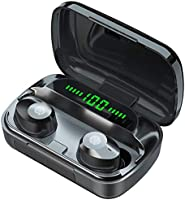 Wireless Earbuds, 2021 Updated Bluetooth 5.1 Wireless Earbuds with Stereo Sound Microphone for Sports, Bluetooth...