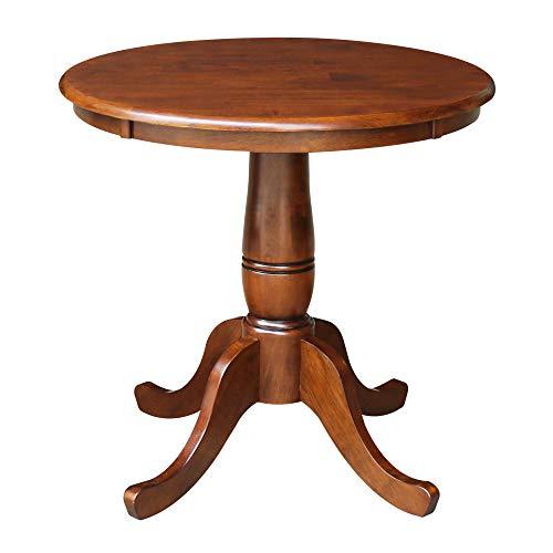 International Concepts 30-Inch Round Pedestal Dining Table, Espresso