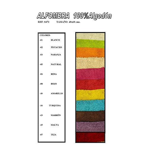 Duffi Home Alfombra, Amarillo, 40 x 60 cm